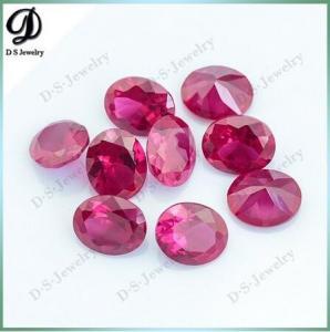 Buy cheap 中国の合成物質8x10mmの5#赤い色のルビー色の鋼玉石のルビーの価格 product