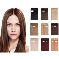 Buy cheap Dark Brown Long Synthetic Hair Extensions Silky Straight Hair Weave product