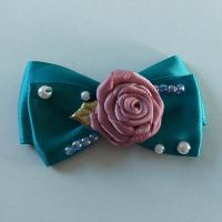 Buy cheap Casual Toddler Girl Hair Accessories Satin Ribbon Bow With Handmade Flower product