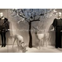 Buy cheap Handmade Resin Deer Sculpture , Life Size Animal Statues In White Color product