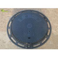Quality Heavy Duty Cast Iron Drain Grating Recessed Round Manhole Cover Lid With Frame for sale