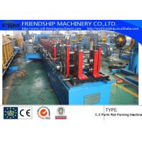 China 1.2mm - 3.0mm Thickness C Z Purlin Roll Forming Machine For Q195 - 235 / Hot-Zinc Coil on sale