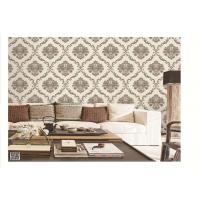 PVC project wallpaper vinyl material washable removable damask design