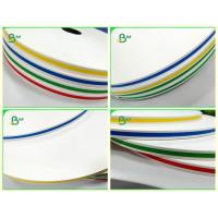 China 60gsm Stripe Printing Colored Straw Paper Degradability In Roll Diameter 55cm on sale