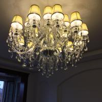 China Large modern chandelier light fixtures Dining room Kitchen light K9 Crystal lamparas de techo pendant chandelier wholesale