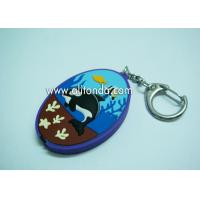 Buy cheap Sea world image soft pvc 3d cartoon led lighting key chain custom for children from wholesalers