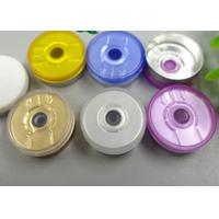 Buy cheap Aluminum 20mm Flip Off Cap Customized Embossing Logo With Multi Color product