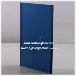 El color azul Tempred/endureció el vidrio para la decoración con forma cuadrada