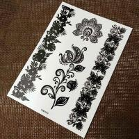 full color printing black tattoo sticker for adults