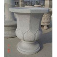 Buy cheap Delicate Grey Granite Flowerpot, Modern Style Grey Granite Garden Stone product