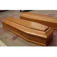 Buy cheap 192-56-43cm Italy funeral casket , paulownia wooden coffins product