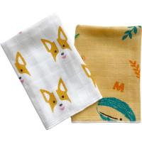 Buy cheap Ultra Absorbent Baby Muslin Bibs 100% Cotton Face Towel Two Layers Gauze Cloth product