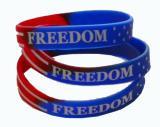 Buy cheap La una 1 pulgada por encargo debossed la pulsera de las pulseras del silicón de la bandera para las actividades del deporte product