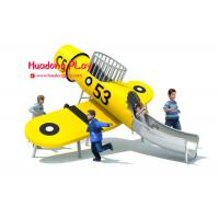 Buy cheap Yellow Plane Stainless Steel Slide Wooden Outdoor Play Equipment Playground product