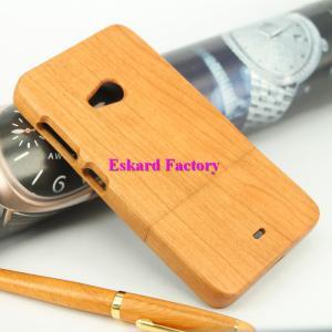 ノキア535は卸売価格の古典的なレトロの木製の電話箱の裏表紙本物の自然な木/タケ電話カバーを包装します