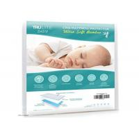 China Non Slip Baby Cot Mattress Protector , Infant Mattress Pad Softest Bamboo Rayon Fiber on sale