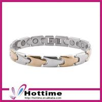 China Titanium Bracelet with Magnet, Negative Ions, Germanium and FIR on sale