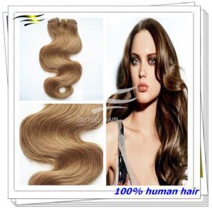 China Best Quality Virgin European Hair #27 Light Brown Hair on sale