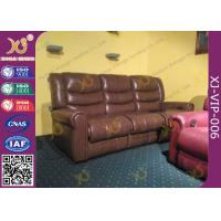 Buy cheap High Density Sponge Seat Back Home Theater Sofa ,Brown  Leather Electric Recliner Chair product
