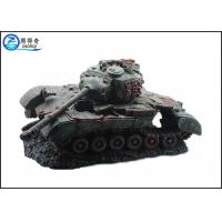 China  Non-toxic Fish Tank Decorations Artificial with Battle Tank Resin Ornaments  for sale