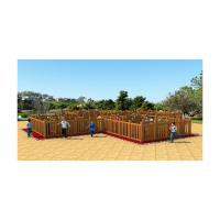 Buy cheap Customize Durable Commercial Wooden Playground Equipment For 10 - 20 Persons product