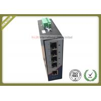 Buy cheap 10/100M Railed Optical Media Converter Unmanaged Industrial Switch With 5 RJ45 Ethernet Port product