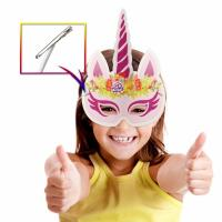 Buy cheap Party Rainbow Unicorn Paper Mask For Kids Glitter Surface Finishing product