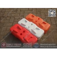 Buy cheap Orange Color BLOW Mould Plastic Temporary Fencing Feet | China Temporary Fence Feet Factory product