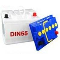 China OEM DIN55 12v Sealed 242*175*190mm White Staring Car Battery For Opel, Skoda Car / Auto on sale