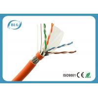 Buy cheap 23AWG Solid Full Copper Cat6 Cable Bulk , Network Communication Cat 6 Ethernet Cable product
