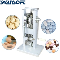 Buy cheap SWANSOFT Single Tablet Punch Die Press Machine Sugar Pill Machine Candy Stamping Making Pressing Mold Making Machine product
