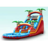 Buy cheap Red Tropical Kids Garden Water Slide With Pool , Blow Up Water Slide Backyard Inflatable Water Slide product