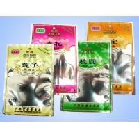 China PET / PE Laminated Hang Hole Gusseted Plastic Zipper Bags , Herbal Medicine Pouch on sale