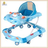 Buy cheap Blue Carton Rolling Baby Walker With Wheels , Plastic Baby Walker product