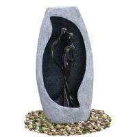 Buy cheap Handmade Fiberglass Resin Large Outdoor Water Fountains With Lights , 53x21x107cm product