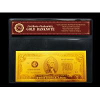China Customed 24K gold dollar bill / $2 dollars pure Engrave Business gifts on sale