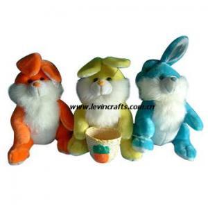 China Cute Plush Stuffed Easter Basket Bunnies Toys on sale