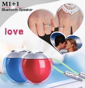 Buy cheap Red Blue BK3.0 Cube Bluetooth Speaker Ball 5.8CM Diameter Plastic Material product