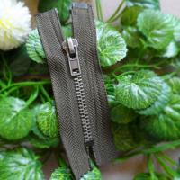 Buy cheap Antique Silver 5# Brass Teeth Closed End Zipper Resin With Auto Lock product
