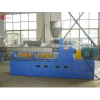 Quality PLC Co - rotating Plastic Extruder Machine Alloy Twin Screw of modular for sale