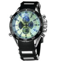 Buy cheap Rubber Band Round Mens Military Watches 190mm , Black Dial Watch product