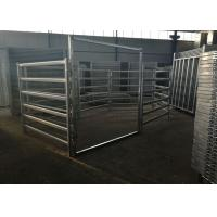 Buy cheap Corral Steel Cattle Fence Hot Dipped Galvanized Oval Rail Livestock Fence product