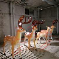 China animal statue elk sculptures statues of fiberglass nature painting as decoration statue in garden theme park on sale