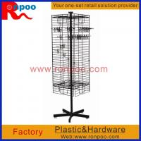Buy cheap Wire Store Display Racks,Counter Top Spinner Display Rack,Rotating Display Rack with Pegs,Grocery Food Rack product