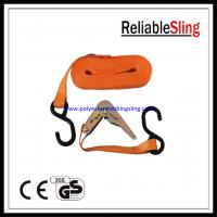 Buy cheap Mini Ratchet Tie Down Strap with S Hook , 800kg Tie Down Lashing product