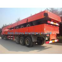 Buy cheap Sino Truk Double Containers Semi Trailer Trucks , Red Diesel Truck Trailer product
