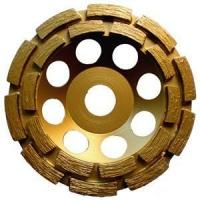 China Sintered Brazed Double Row Diamond Cup Grinding Wheel For Concrete 3  6  7 on sale