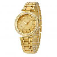 Buy cheap Customized Color Brass Wrist Watch , Gold Plated Quartz Ladies Wrist Watches product