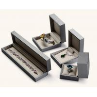 Buy cheap Earring / Pendant Jewelry Plastic Box Attractive Black Color PU Leather Covered product