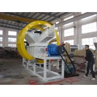 Buy cheap Waste Tire Double Shaft Shredder Rubber Tyre Recycle Machine High Efficiency product